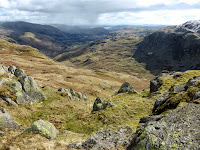 Looking down into Easedale from Calf Crag