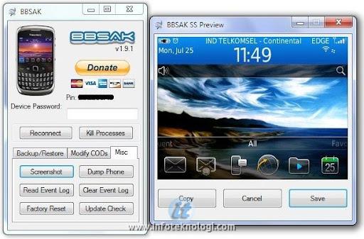 Ambil Screenshot Layar Blackberry