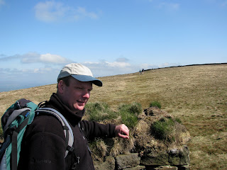 Richard at Shelter on Pendle Hill