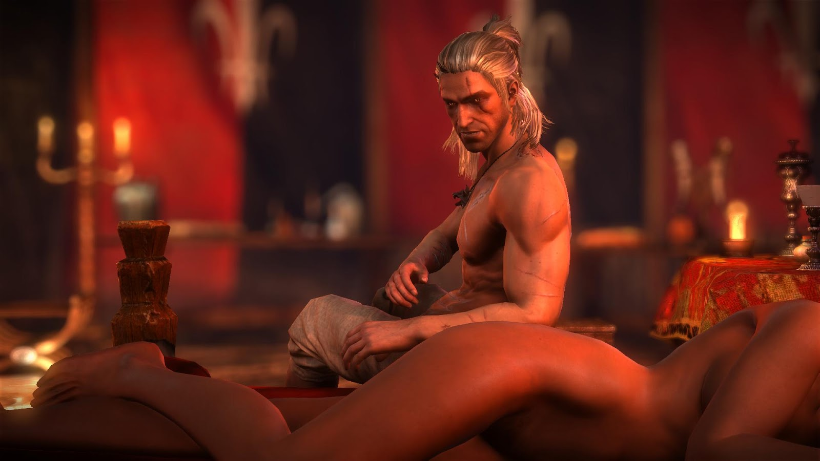 Witcher sex scene erotic image