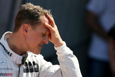 Михаэль Шумахер фэйспалмит после квалификации на Гран-при Монако 2012