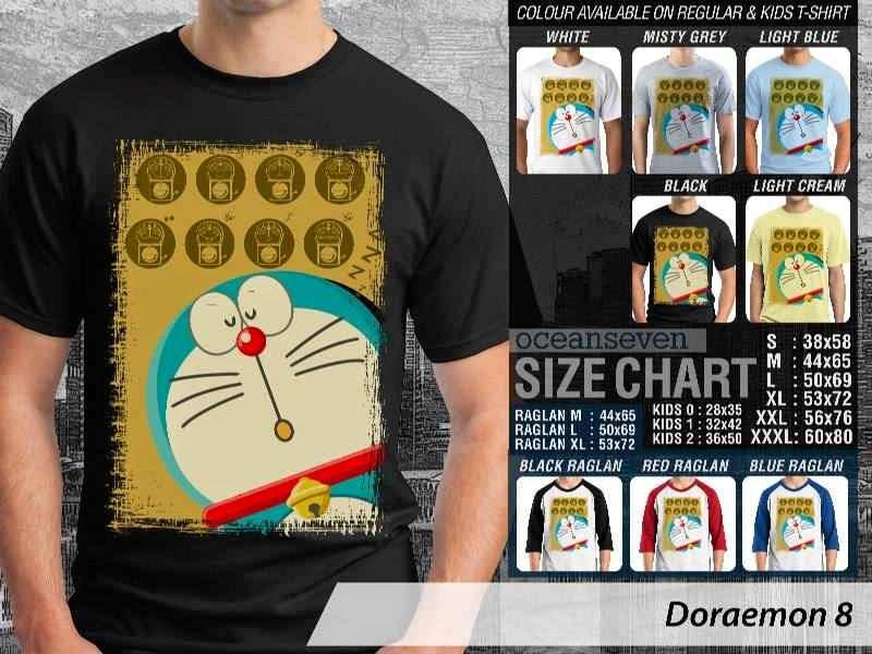 KAOS Doraemon 8 Manga Lucu distro ocean seven