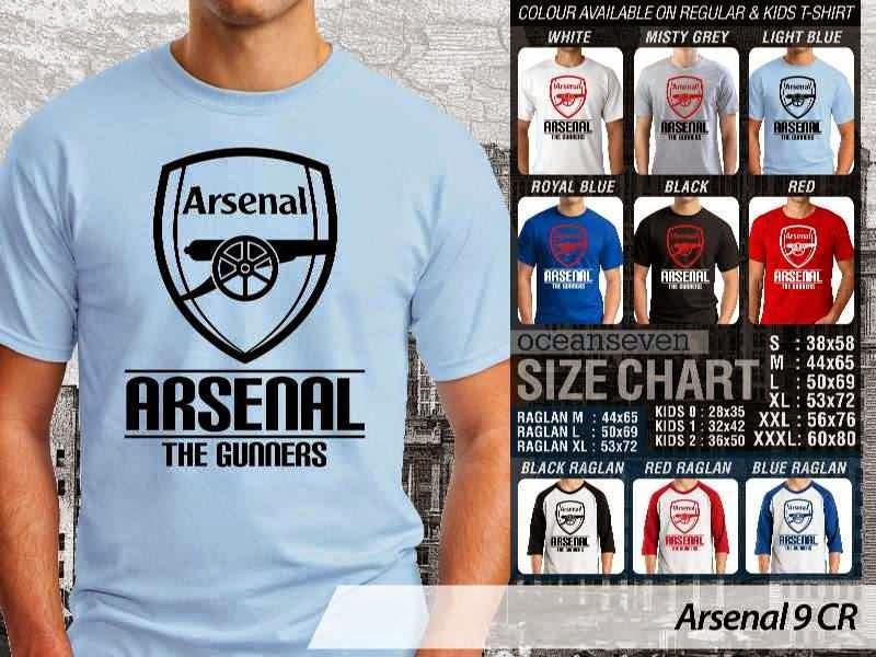 Kaos Bola Arsenal 9 Liga Premier Inggris distro ocean seven