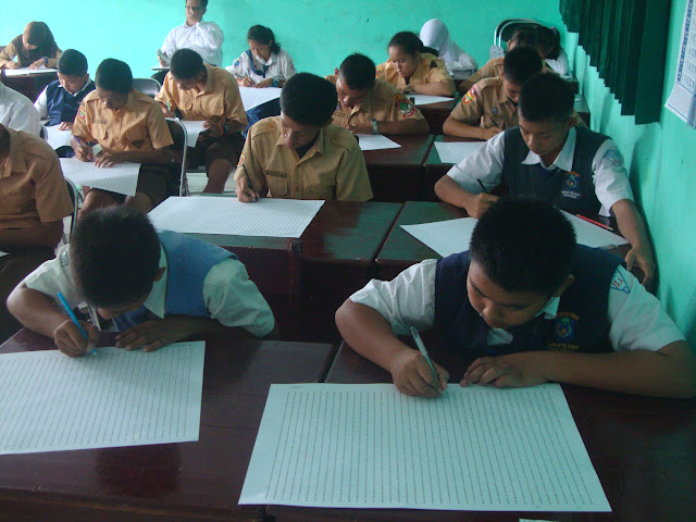 Suasana Psikotest Calon Siswa SMAN 3 Unggulan Kayuagung 2014/2015