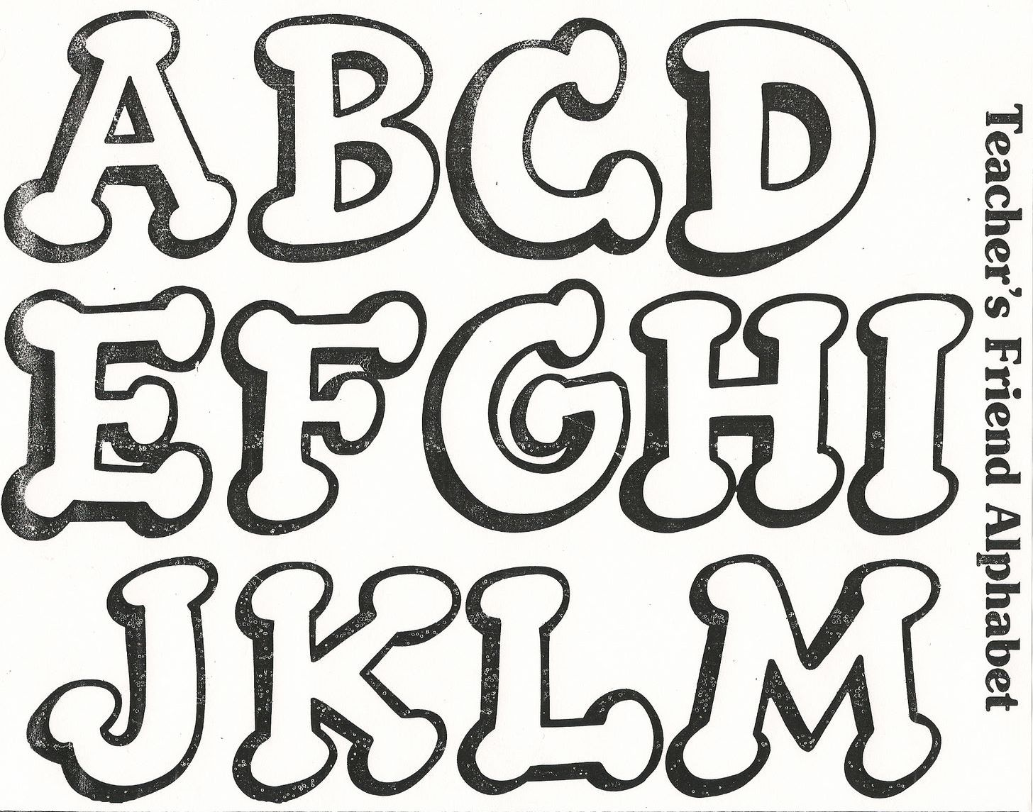moldes letras Colouring Pages