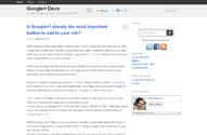 Google+ Devs