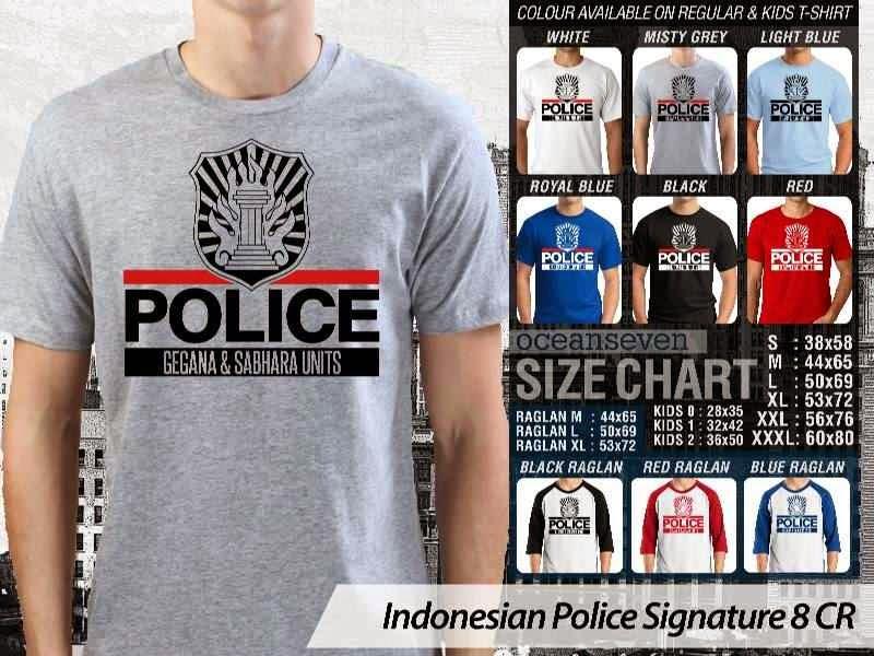 KAOS Militer Indonesian Police Signature 8 | KAOS Police Gegana & Sabhara Units distro ocean seven