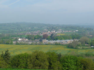 A hazy view to Mayfield during another trip to the Bluebells
