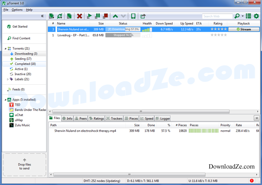 uTorrent 3.4.9 Build 42973
