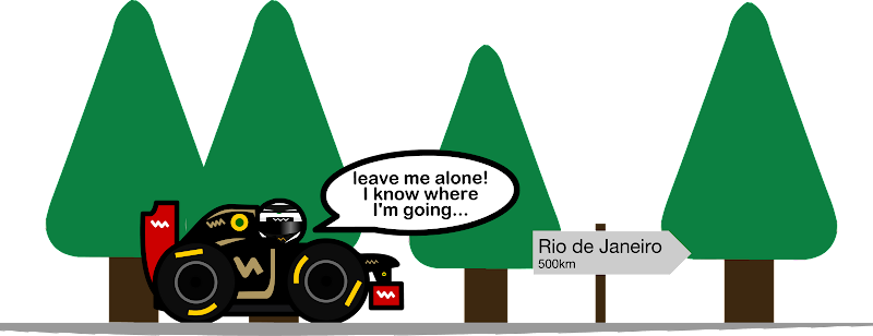 Кими Райкконен на Lotus - комикс Unlap по Гран-при Бразилии 2012