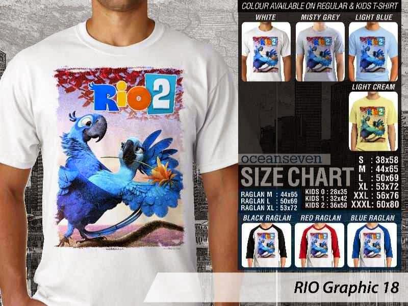 Kaos Film Animasi Lucu Desain RIO Graphic 18 distro ocean seven