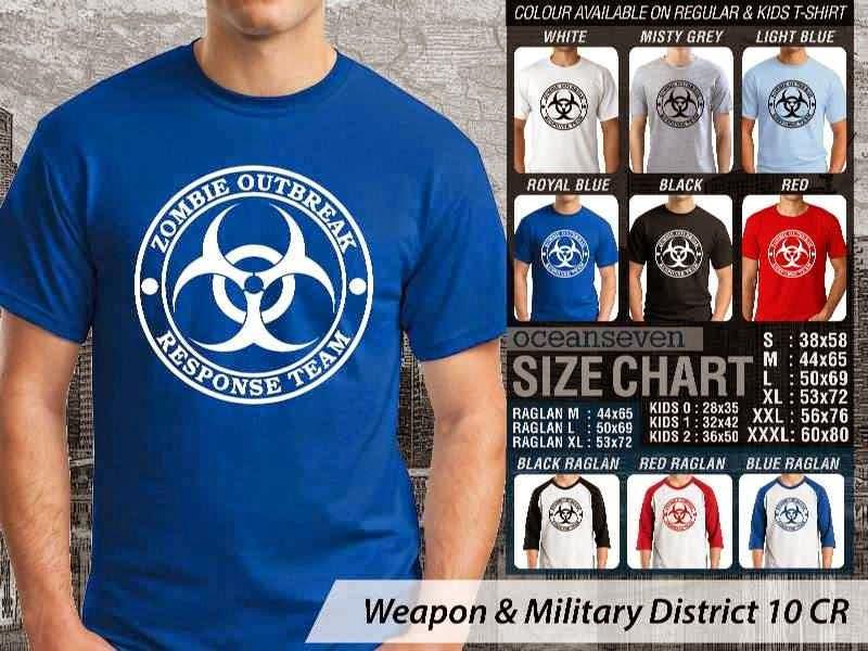 KAOS Militer Zombie Outbreak Response Team Weapon & Military District 10 distro ocean seven