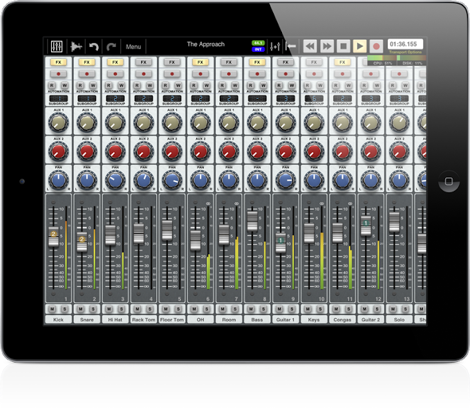 Auria DAW for iPad