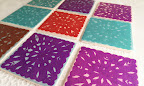 DIY papel picado coasters