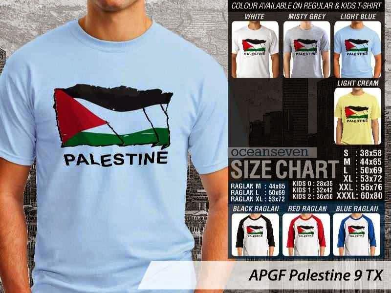 Kaos Muslim Islam Palestine 9 distro ocean seven