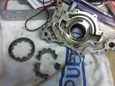 Broken Oil Pump Gears