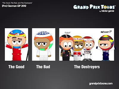 комикс Grand Prix Toons перед Гран-при Германии 2011
