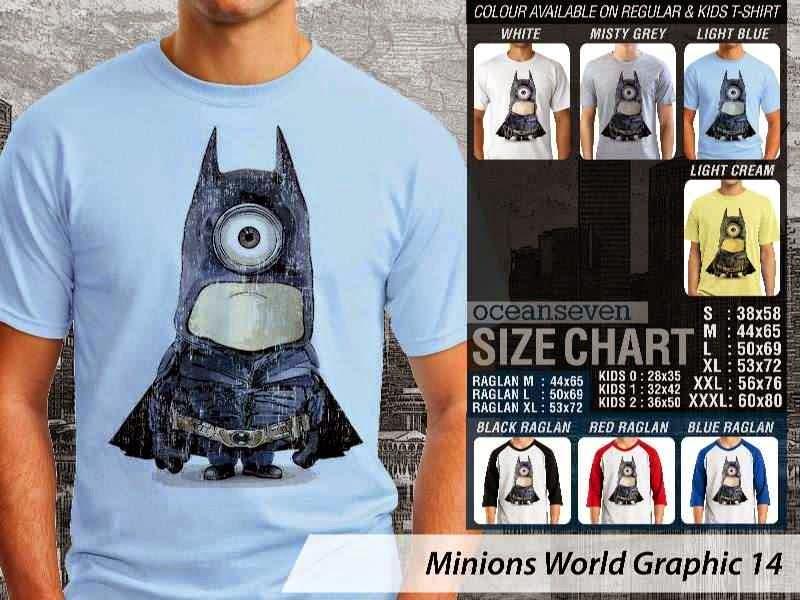 KAOS Minions Despicable Me Batman 14 Film Lucu distro ocean seven