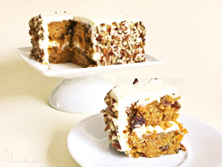mini carrot layer cake