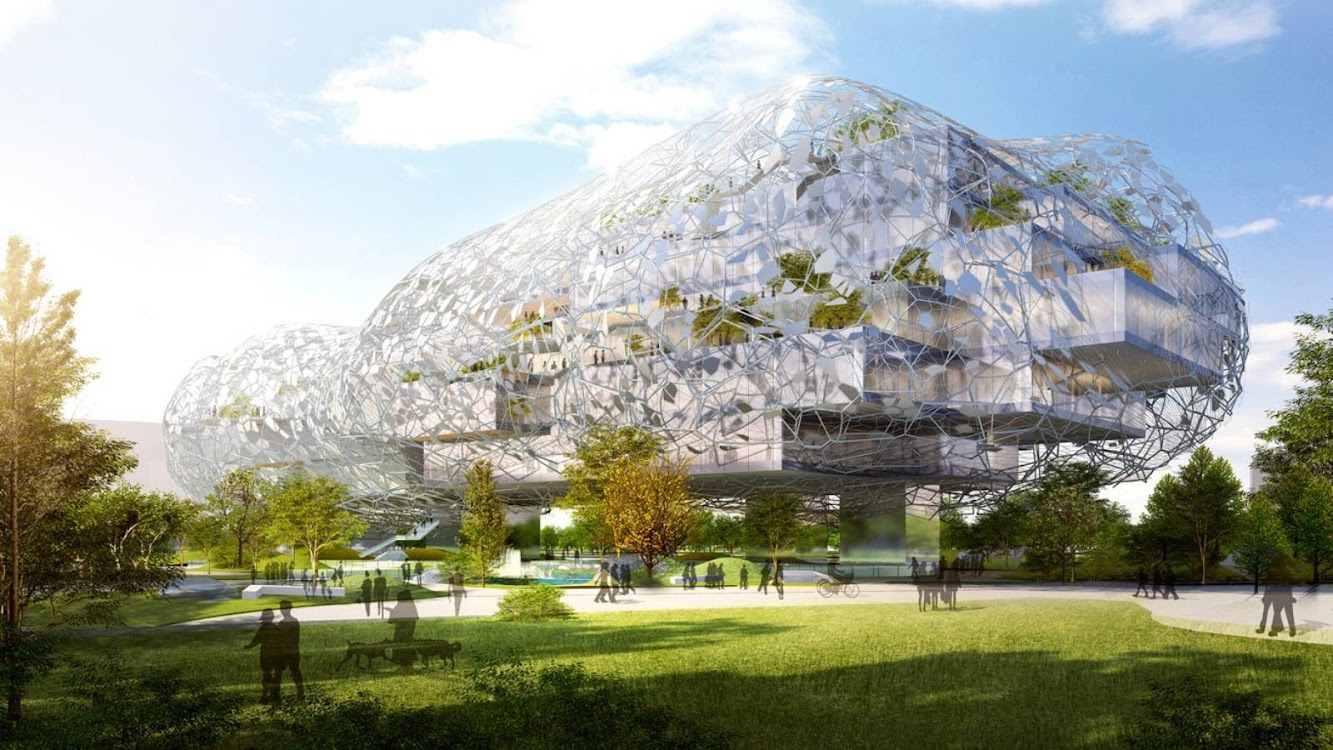 Taichung City Cultural Center Competition Entry by Rmjm