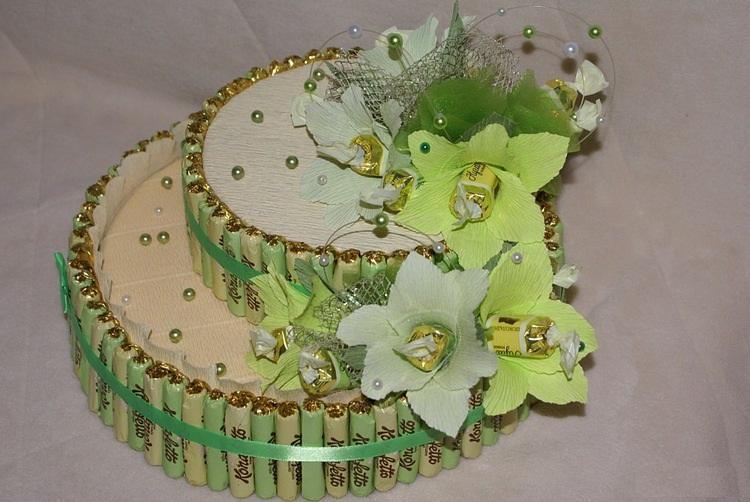 Тортик из конфет своими руками мастер класс пошагово