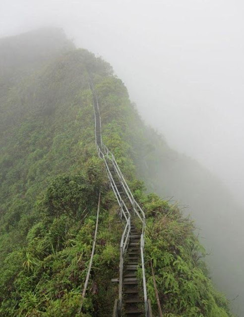 Island, Hawaii - Stairs into the Sky Seen On www.coolpicturegallery.us