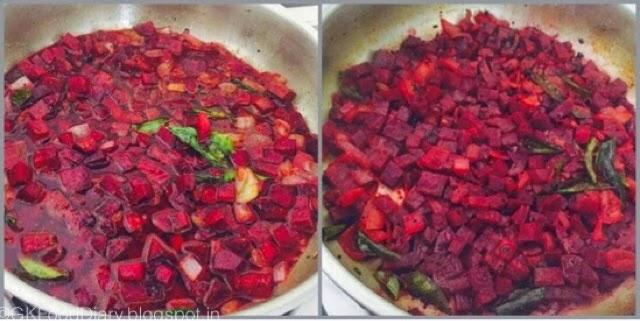 Beetroot Poriyal Recipe (Beetroot Stir Fry) 5