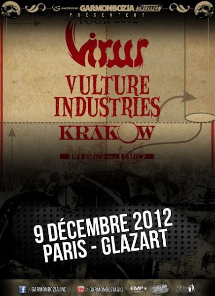 Virus / Vulture Industries / Kraków / Mondvolland @ Glaz'Art, Paris 09/12/2012