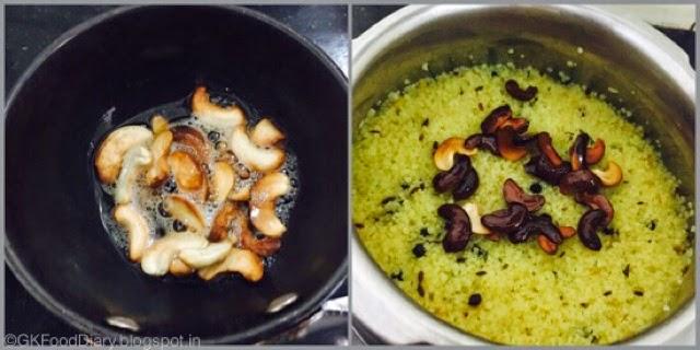 Millet Pongal Recipe (Varagu Pongal / Kodo Millet Kara Pongal) 6