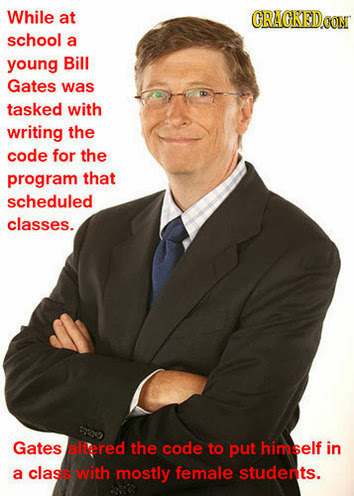 Amazing celebrity facts about Bill Gates