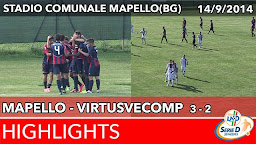 Mapello - VirtusVecomp - Highlights del 14-09-2014
