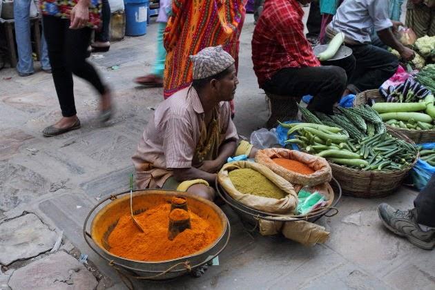 Street Vegetable Market at Kathmandu
