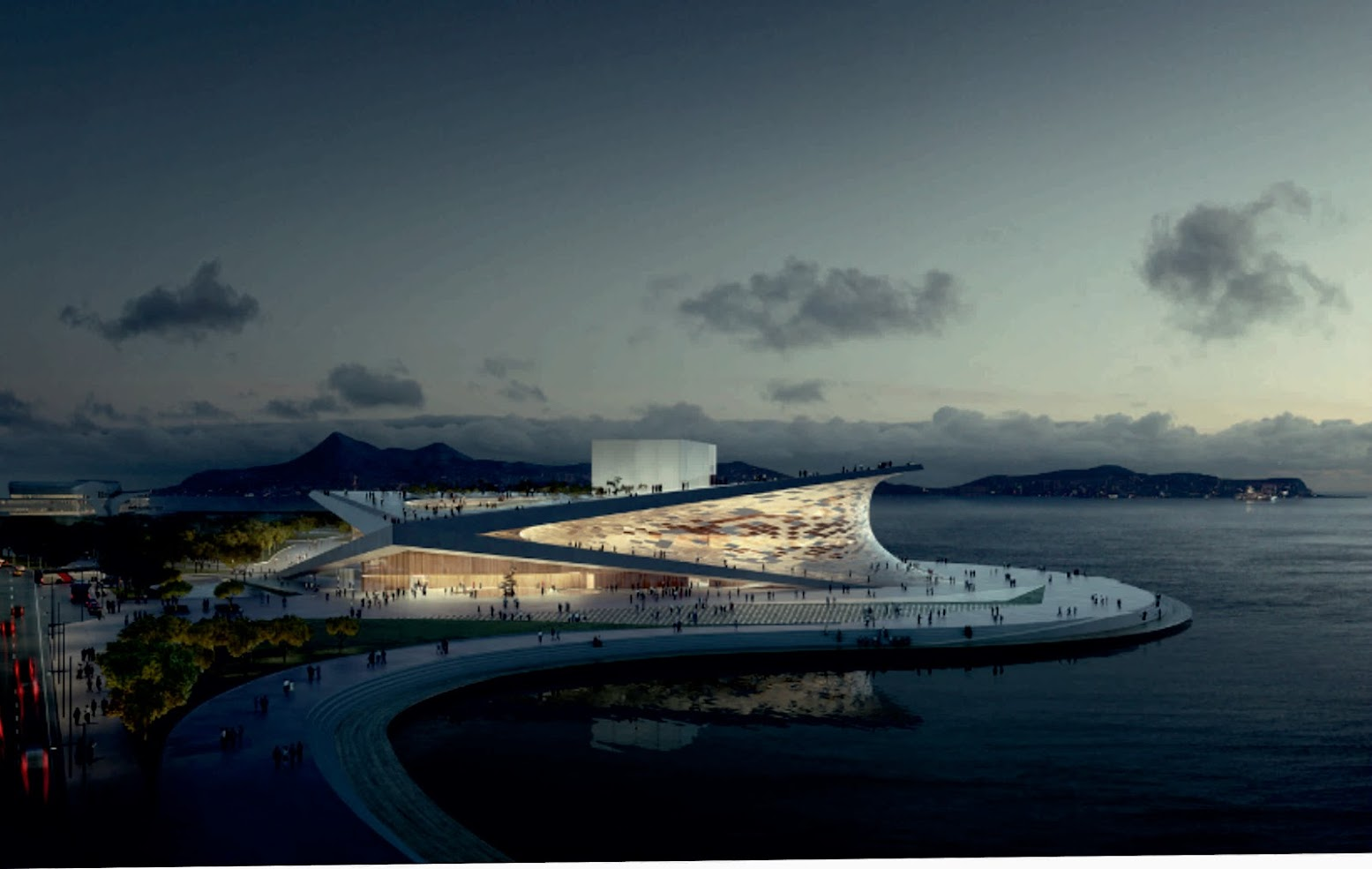 "Busan, Corea del Sud: [SNØHETTA: WINNER OF THE ""BUSAN OPERA HOUSE"" COMPETITION]"