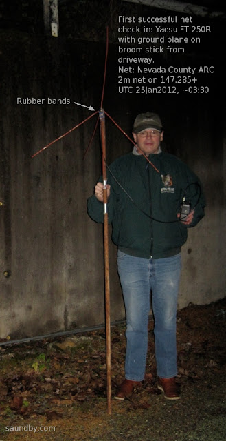 Me with the amazing 2m broomstick antenna boom.