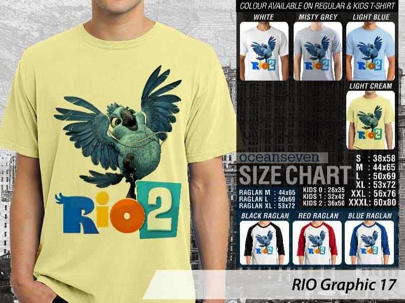 Kaos Film Animasi Lucu Desain RIO Graphic 17 distro ocean seven