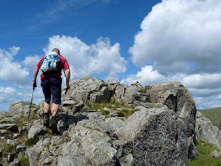David leads the way to the summit of Sergeants Crag.