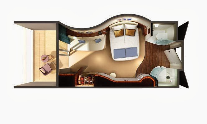 Norwegian Epic - Oceanview with Balcony ( Layout )