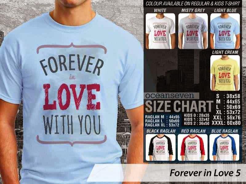 KAOS Pasangan Forever love with you |KAOS Forever in Love 5 distro ocean seven