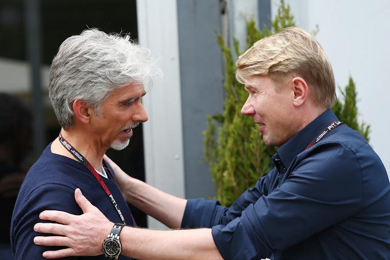 Деймон Хилл и Мика Хаккинен на Гран-при Австралии 2013