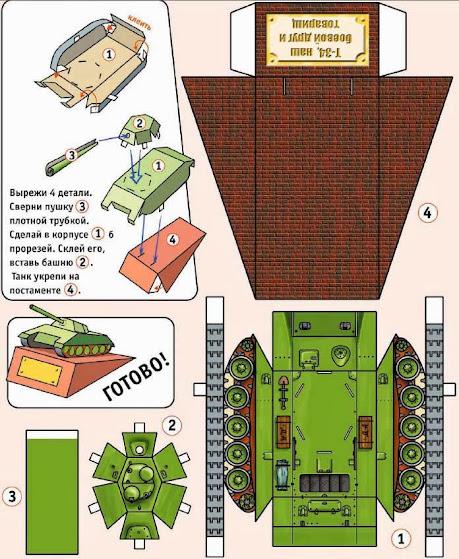 Как сделать модели танкистов