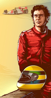 Ayrton Senna - Illustration for Mobil Mag - Digital Magazine by CrisVector