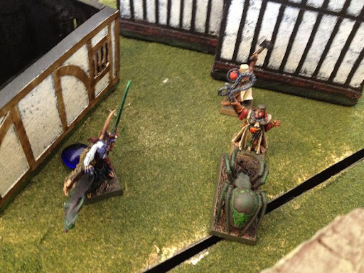 Strangulf chasing down a fleeing civilian