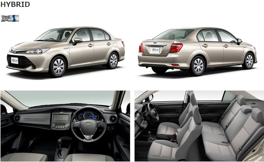 TOYOTA    AXIO    NKE165 NEW    2015    FACE LIFT EDITION PACKAGES