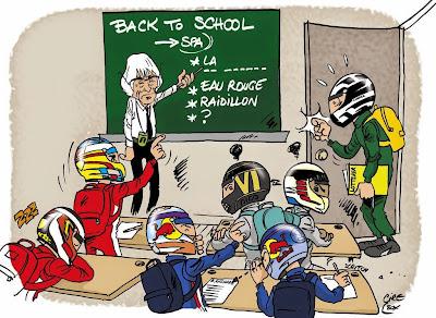 Андре Лоттерер присоединяется к пилотам Формулы-1 - комикс Cirebox перед Гран-при Бельгии 2014