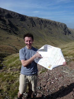 "Peter points to where we are on his new ""Tubular Fells"" Map."