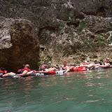 Lines of Innertubes on the River - Belize