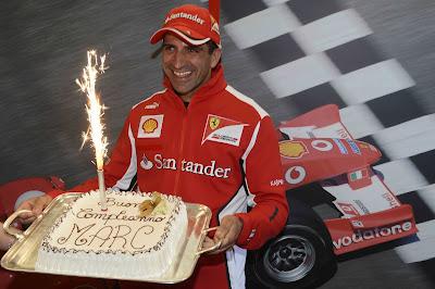 Марк Жене - торт от Ferrari на день рождения 19 марта 2012