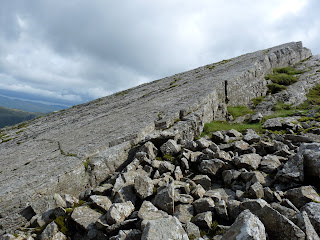 The top of The Great Slab - Bowfell