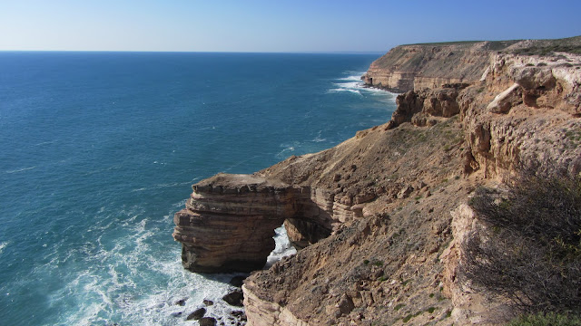 The scenic Kalbarri cliffs and the rugged Western Australian coastline.