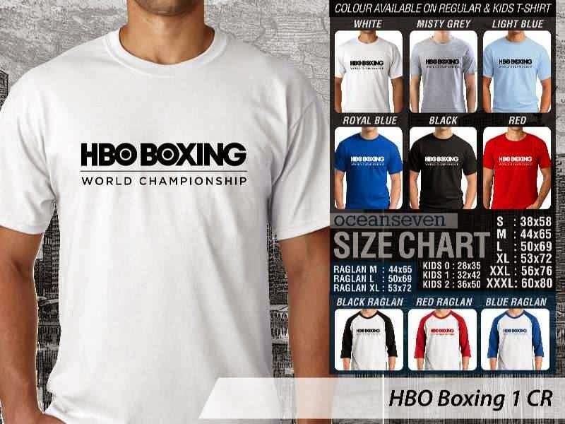Kaos Olah Raga Sport HBO Boxing 1 distro ocean seven